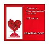 Love Badetuch Meer Schwimmbad is a Passion Herz Blütenblätter von Rose Bassetti Handtuch Groß 163x 86cm Schwamm von Weich Baumwolle Weiß Rot