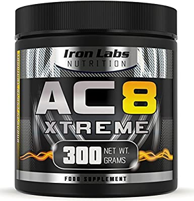 AC8 Xtreme | Tropical Blast | Pre Workout Supplement | Energy & Muscle | 20-40 Servings | 300 grams from Iron Labs Nutrition