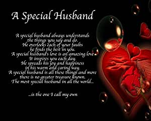 Personalised A Special Husband Poem Birthday Valentines ...