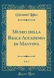 eBook Gratis da Scaricare Museo della Reale Accademia di Mantova Vol 1 Classic Reprint (PDF,EPUB,MOBI) Online Italiano