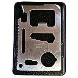 naisecore 11in 1Funktion Kreditkarte Größe Survival Pocket Tool, Multitool–2Pack