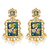 #8: The Luxor Traditional Gold Plated Lord Radha-Krishna Temple Jewellery Dangler Earring For Women and Girls-ER-1823
