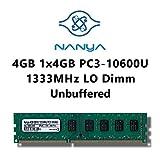 Nanya Micron Samsung Elpida Hynix je nach Verfügbarkeit 4GB (1x 4GB) DDR3 1333MHz (PC3 10600U) LO Dimm Computer PC Desktop Arbeitsspeicher RAM Memory