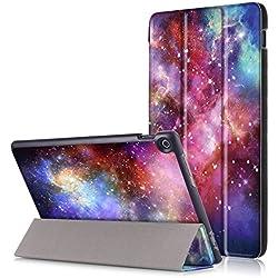 Skytar Coque Asus ZenPad Z301M,Etui Asus ZenPad 10,Housse en PU Cuir Protection pour Tablette Asus ZenPad 10 Z300C/Z300M/Z300CL/Z300CG/Z301M/Z301ML/Z301MF/Z301MFL (10,1 Pouces),système galactique