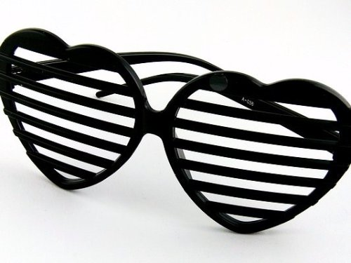 BLACK!! NACHT SCHWARZE Kanye West PARTY Brille!