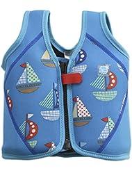 Splash About BJSS1 - Chaleco flotador para niños, color azul, con diseño de barcos, 1-3 años