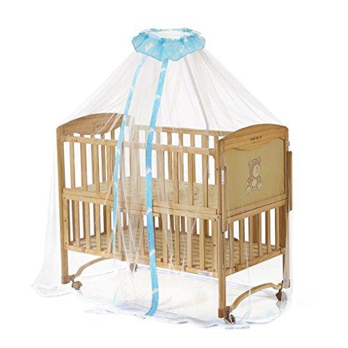 Preisvergleich Produktbild 160x450cm Moskitonetz Mückennetz mit Cartoon Muster Insektenschutz Betthimmel Fliegennetz für Kinderbetten Baby Bett Sommer,Blau