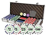 Professional Set of of 500 Casino Del Sol 11.5 gram Poker Chips w/Case, Cards, Dealer Buttons, 2 Cut Cards