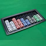Chips Tray Bandeja 500 fichas , de 10 pilas de fichas, adecuadas para la mesa, casino, Black Jack, poker texas (NO CHIPS AND FICHES)