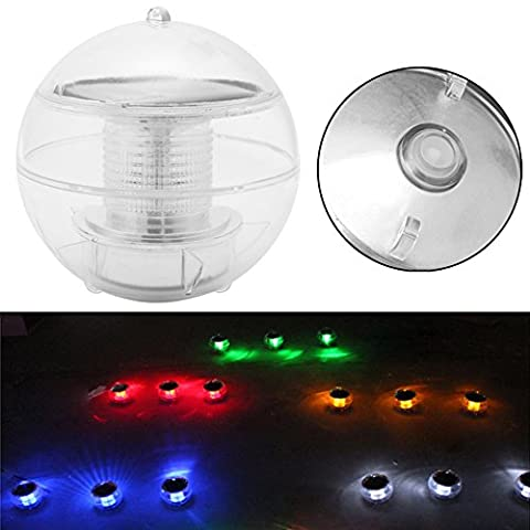 Top-Sell LED Solar Power Floating RVB Light Garden Pool Ball Night View Lampe étanche