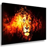 Löwe Leinwandbild LaraArt Bilder Mehrfarbig Wandbild 120 x 80 cm