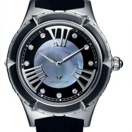 Viceroy-432104-53-Reloj-de-seora-acero-correa-caucho-impermeable-50m