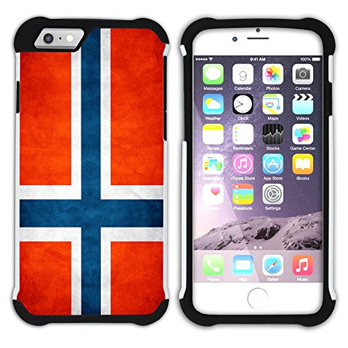 Graphic4You Vintage Uralt Flagge Von Finnland Finnisch Design Hart + Weiche Kratzfeste Hülle Case Schale Tasche Schutzhülle für Apple iPhone 6 / 6S Norwegisch