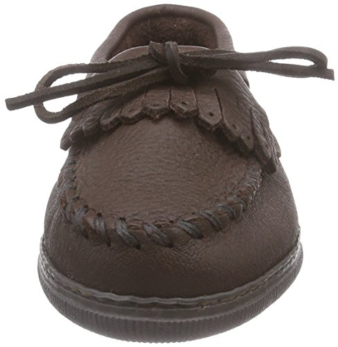 Minnetonka Moosehide Fringed Kilty 392, Damen Mokassins Braun (Chocolate)
