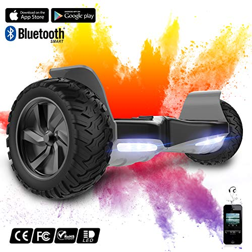 8,5 Zoll Hoverboard SUV Elektro Scooter Smart Scooter mit Bluetooth & App Funktion Self Balance Board All Terrain Off Road Reifen EU Sicherheitsstandards