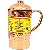 Indian Art Villa Hammered Pure Copper Jug Pitcher, Serveware & Drinkware, Health Benefits, 1500 Ml