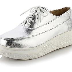 ZQ hug Scarpe Donna-Sneakers alla moda-Ufficio e lavoro / Casual-Creepers-Plateau-Finta pelle-Argento / Dorato , golden-us10.5 / eu42 / uk8.5 / cn43 , golden-us10.5 / eu42 / uk8.5 / cn43