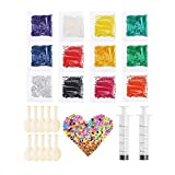 SIMUER Wasser Perlen Pack, 12 Pack Water Gel Balls Pearls with 10 Balloons Growing Jelly Beads Tactile Sensory Toys for Vase Filler, Wedding Plants Home Decoration