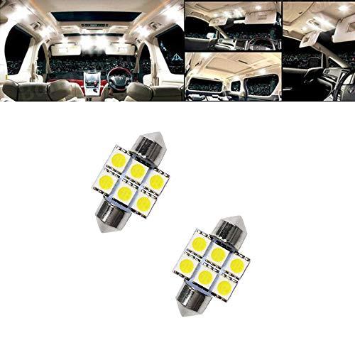 4pcs, Blanc KaTur 31mm Festoon C5W Ampoules LED 6000K Blanc Canbus extr/êmement Lumineux sans Erreur 3175 DE3175 DE3021 3022 3021 Lumi/ères de Porte de Plaque dimmatriculation de d/ôme int/érieur