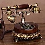 Reines Massivholz Antik Telefon, Home Fashion Kreative Feste Telefon 18 X 21 cm Handy