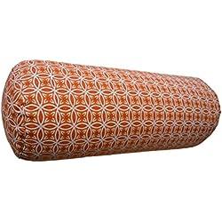 Bodhi Yoga–Bolster 65x 23cm de diámetro, relleno de alforfón