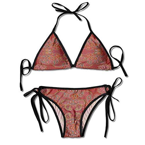 VTXWL Bikini Bottoms Scrunch Butt Oriental Rectangular Paisley Printing Bikini (Butt Bikini Bottoms Scrunch)