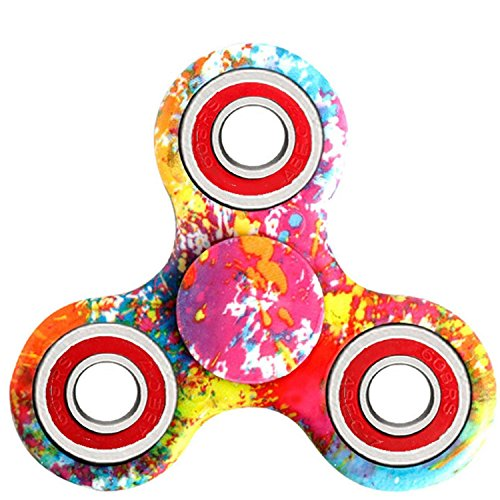 Hand Spinner Stress Relief Toy, Tri-Spinner Fidget Toy Metal Bearing EDC Focus Toy for Killing Time - 3