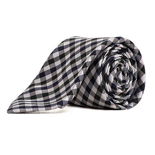 Thommy Hilfiger Tailored Herren Krawatte Tie 7cm TT87896337 Schwarz Weiss Kariert (Sakko, Tailored Seide)
