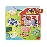 Jumbo Spiele D53040 Holzpuzzle Tiermütter und-Kinder auf dem Bauernhof
