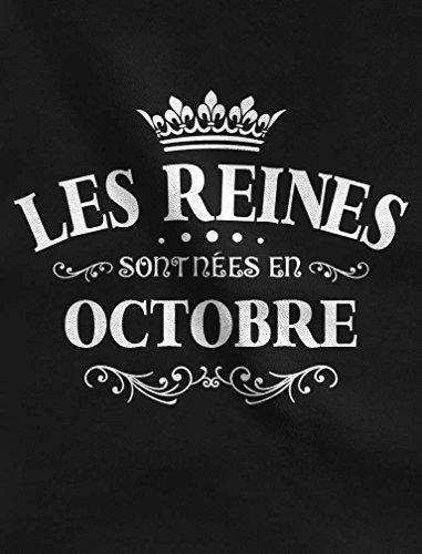 Les Reines sont nées en Octobre Sweatshirt Femme Noir