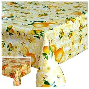 wachstuch tischdecke abwaschbar gr e farbe w hlbar eckig 140 x 240 cm zitrone k che. Black Bedroom Furniture Sets. Home Design Ideas