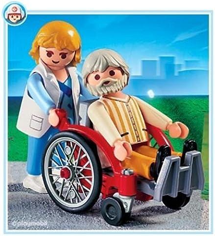 Playmobil - 4226 - Hôpital - Doctoresse / Malade / Fauteuil