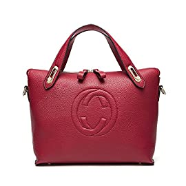 Women's 'Gucci' Designer Style Leather Bucket Tote Bag – Shopper Handbag