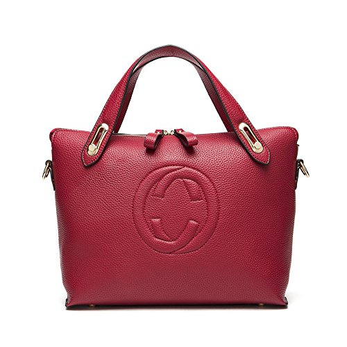 Women's 'Gucci' Designer Style Leather Bucket Tote Bag – Shopper Handbag 51TV5pGMlGL