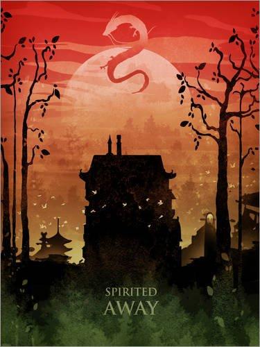 Poster 30 x 40 cm: Spirited Away (Chihiros Reise ins Zauberland) von Albert Cagnef - hochwertiger Kunstdruck, neues Kunstposter