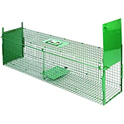 Maxx Trampa de Captura Infaillible-Plegable-Jaula-para pequeños Animales: Conejos, Ratas, roedores-60x 18x 20cm-con Dos entradas