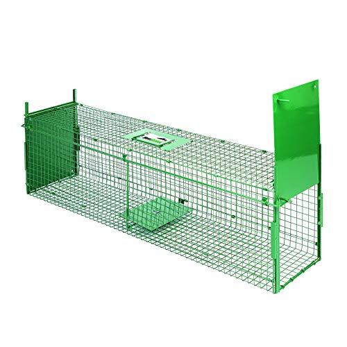 Maxx Trappola di Cattura infallibile-Pieghevole-Gabbia-per Piccoli Animali: Conigli, ratti, roditori-100x 25x 28cm-con Due ingressi