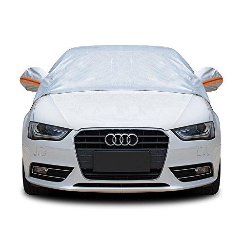 Tofern Halbe Größe Wasserdichtes Autoabdeckung Top Winter Sommer Autoabdeckung, Limousine, L
