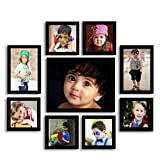 Aadinath Collection Generic, Acrylic, MDF Photo Frame (Black, 9 Photos)