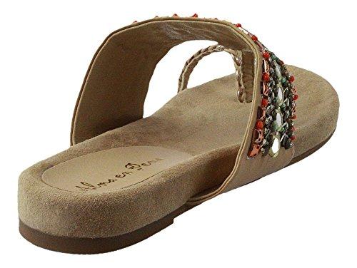 Almaen Pena | Zehentrenner | Sandale - beige | coral Beige