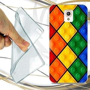 Custodia cover case mattoncini colorati per vodafone smart for Case pc colorati