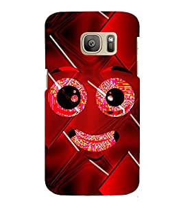 Smiley Cute Looks 3D Hard Polycarbonate Designer Back Case Cover for Samsung Galaxy S7 Edge :: Samsung Galaxy S7 Edge Duos G935F