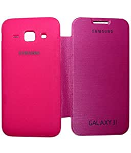 Aara Smart Flip Cover Carry Case for Samsung Galaxy J1 - Pink