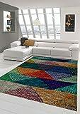 Designer und Moderner Teppich Marokkanisches Muster Multi Größe 120x170 cm