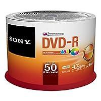 Sony 50DMR47PP 50 حزمة InkGenicom قابلة للطباعة DVD-R مجموعة دواسة