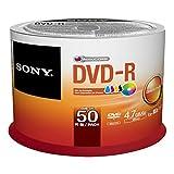 Sony 50DMR47PP DVD-R Rohlinge (16x Speed, 4,7GB, 120 Min, 50-er Pack)