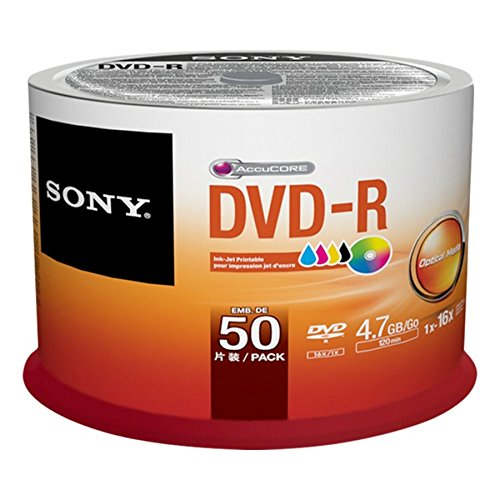 Sony 50 DVD-R vergini stampabili full printable 4.7GB 120min