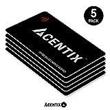 ACENTIX 5 x RFID/NFC Blocage de cartes,Protection de carte de crédit / débit pour votre portefeuille ou votre sac à main | Aucune pile requise,Pas de manches délirantes - Noir