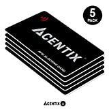 ACENTIX 5 X tarjetas de bloqueo RFID / NFC, Protección de tarjeta de crédito / débito para su cartera o bolso   No se requieren baterías, sin mangas complicadas - negro