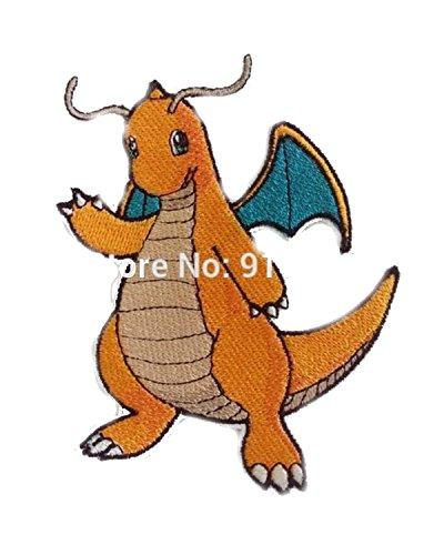 nwendung Pokemon Dragonite Thema Cosplay Aufnäher Patch Tolles Geschenk für Partys, Dekoration. oder Sammeln. ()